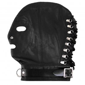 Rouge Mask With D Ring And Lock Strap - Black 1 Product Image