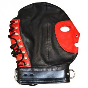 Rouge Mask With D Ring And Lock Strap - Red/Black 1 Product Image