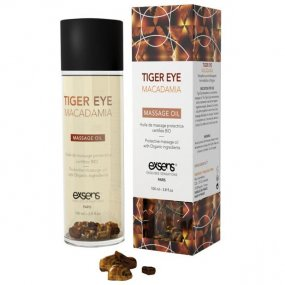 EXSENS of Paris Organic Massage Oil w/Stones - Tiger Eye Macadamia 1 Product Image