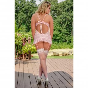 Exposed - Stardust - Chemise & G-String Set - L/X - Pink 2 Product Image