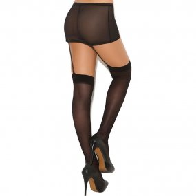 Elegant Moments: Sheer Thigh High - Black - O/S 2 Product Image