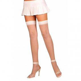 Elegant Moments: Sheer Thigh High - White - O/S 2 Product Image