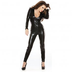 Sexy Kitten Catsuit - O/S - Black 1 Product Image