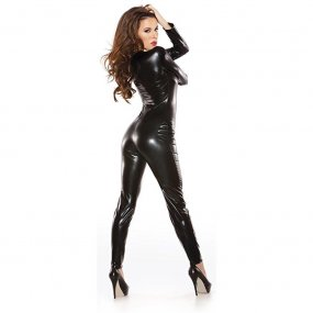 Sexy Kitten Catsuit - O/S - Black 2 Product Image