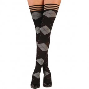 Kix'ies Kimmie Argyle Thigh High - Size C 1 Product Image