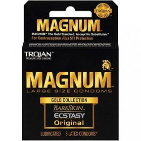 Trojan Magnum Gold Collection Large Size Condom - 3 pack 1 Product Image