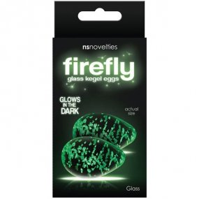 Firefly Glass Glow In The Dark Kegel Eggs - Clear 1 Product Image