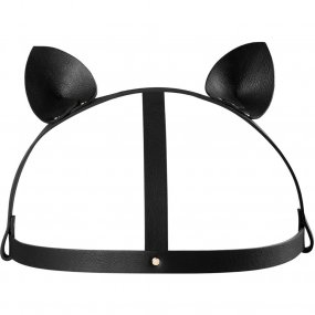 Bijoux Indiscrets: Maze Cat Ear Head Piece - Black 1 Product Image