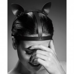 Bijoux Indiscrets: Maze Cat Ear Head Piece - Black 2 Product Image