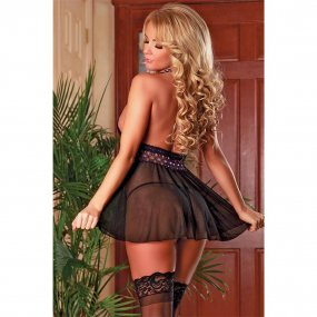 Exposed - Purple Haze - Baby Doll & Split G-string Set - L/XL 2 Product Image