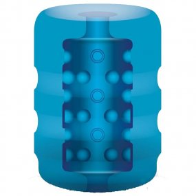 Zolo Backdoor Pocket Stroker - Ribbed Texture - Blue 2 Product Image