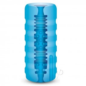 Zolo Backdoor Stroker - Squeezable Vibrating Stroker - Blue 2 Product Image