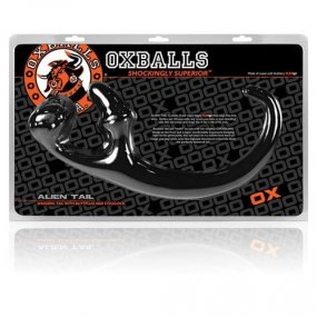 Oxballs Alien Tail Butt Plug & Cocklock - Black 2 Product Image
