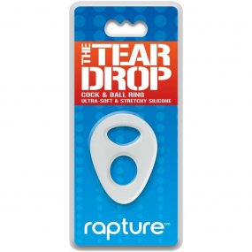 The Tear Drop Premium Silicone Cock & Ball Ring - Clear 1 Product Image