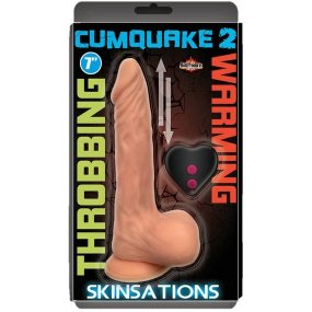 Skinsations Cum Quake 2 Throbing Pulsating Dildo w/ Suction Cup and Remote 1 Product Image