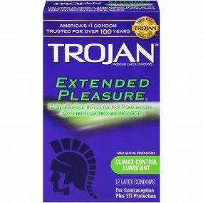 Trojan Extended Pleasure Premium Latex Condoms - 12 Pack 1 Product Image