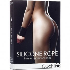 Ouch Silicone Rope - Black 2 Product Image