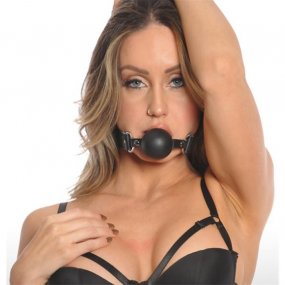 Bizarre Leather: Ball Gag - Black 1 Product Image
