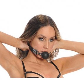 Bizarre Leather: Ball Gag - Black 2 Product Image