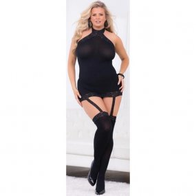 Escante: Hi-Neck Body with Thigh Highs - One Size 1 Product Image