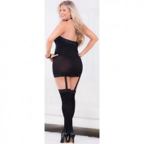 Escante: Hi-Neck Body with Thigh Highs - One Size 2 Product Image
