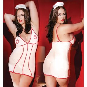 Kissable Nurse Dress with Head Piece - OS/XL 1 Product Image