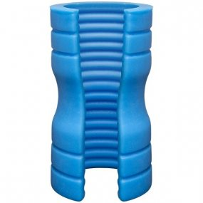 OptiMALE TRUSKYN Silicone Stroker Ribbed - Blue 1 Product Image