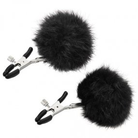 Sincerely Fur Nipple Clips - Black 1 Product Image