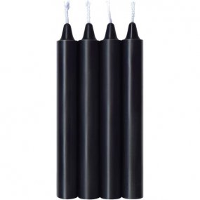 Make Me Melt Sensual Warm Drip Candles - 4 Pack - Black 1 Product Image