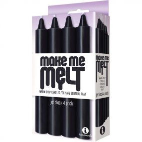 Make Me Melt Sensual Warm Drip Candles - 4 Pack - Black 2 Product Image