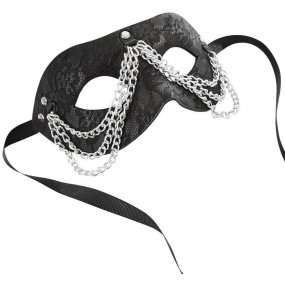 Sincerely Chained Lace Mask - Black 1 Product Image