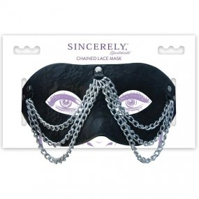 Sincerely Chained Lace Mask - Black 2 Product Image