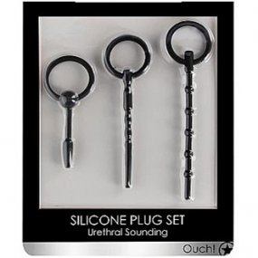 Shots Ouch! Urethral Sounding Plug Set - Black  2 Product Image