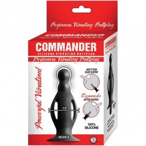Commander Beginners Vibrating Butt Plug - Black 2 Product Image