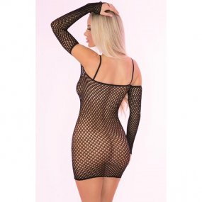 Bad Intentions Black Fishnet Dress - One Size 2 Product Image
