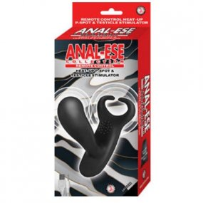 Anal Ease Remote Control Heat Up P-Spot and Ball Stimulator - Black 2 Product Image