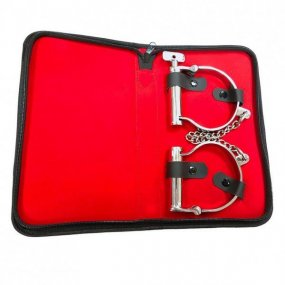 Rouge Ankle Shackles - Clamshell Stainless Steel 2 Product Image