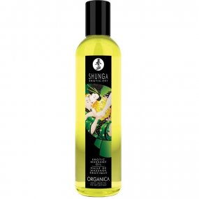 Shunga Organica Massage Oil - Green Tea - 8oz. 1 Product Image