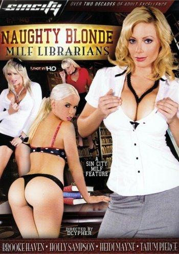 Naughty Blonde MILF Librarians Image