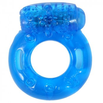 Stay Hard: Reusable Vibrating Cock Ring - Blue Image