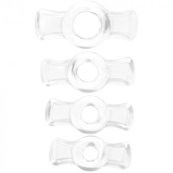 TitanMen Cock Ring Set - Clear Image