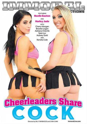 Cheerleaders Share Cock Image
