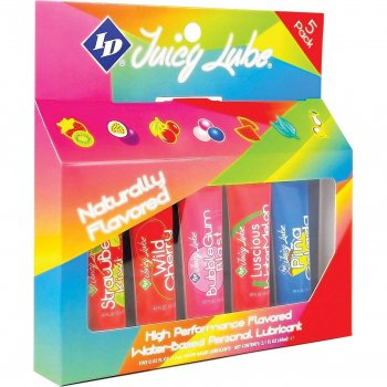 ID Juicy Lube - Naturally Flavored Sampler - 5 Pack Image