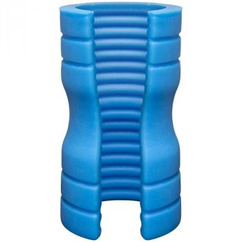 OptiMALE TRUSKYN Silicone Stroker Ribbed - Blue Image