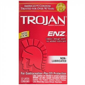 Trojan Enz Non-Lubricated - 12 Pack Image