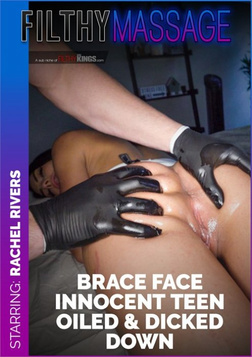 Brace Face Innocent Teen Oiled & Dicked Down