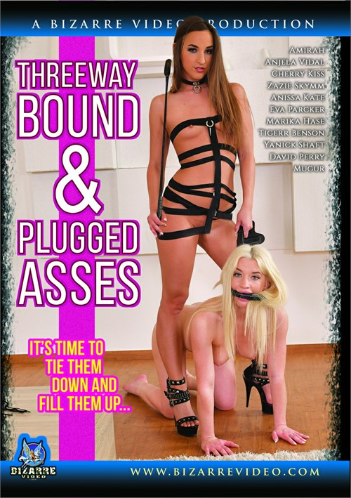 Threeway Bound & Plugged Asses Boxcover