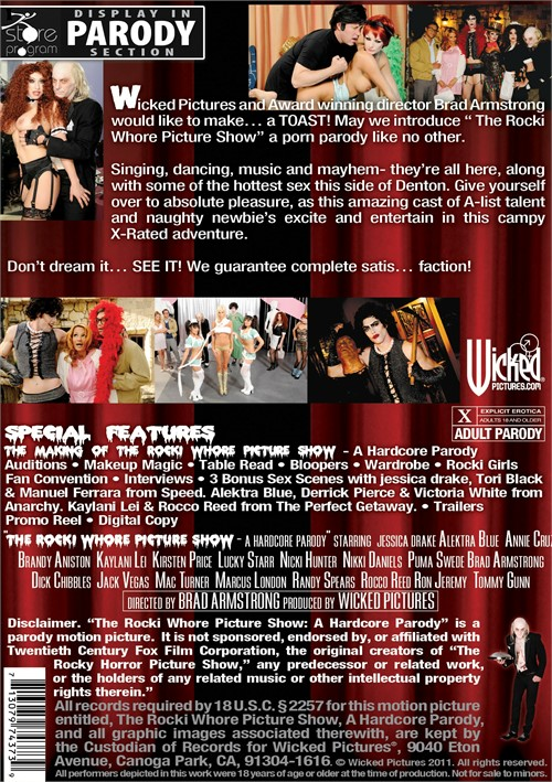 Back cover of The Rocki Whore Picture Show: A Hardcore Parody