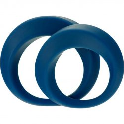 Linx Perfect Twist 2 Pack Cock Ring Set - Blue Sex Toy