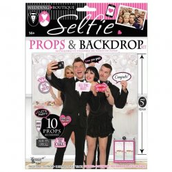 Bridal Party Selfie Props & Backdrop Sex Toy